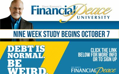Starts October 7: Financial Peace University
